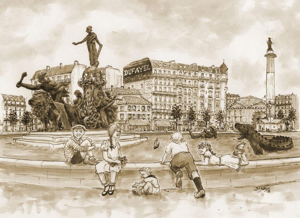 Paris, bassin place de la Nation